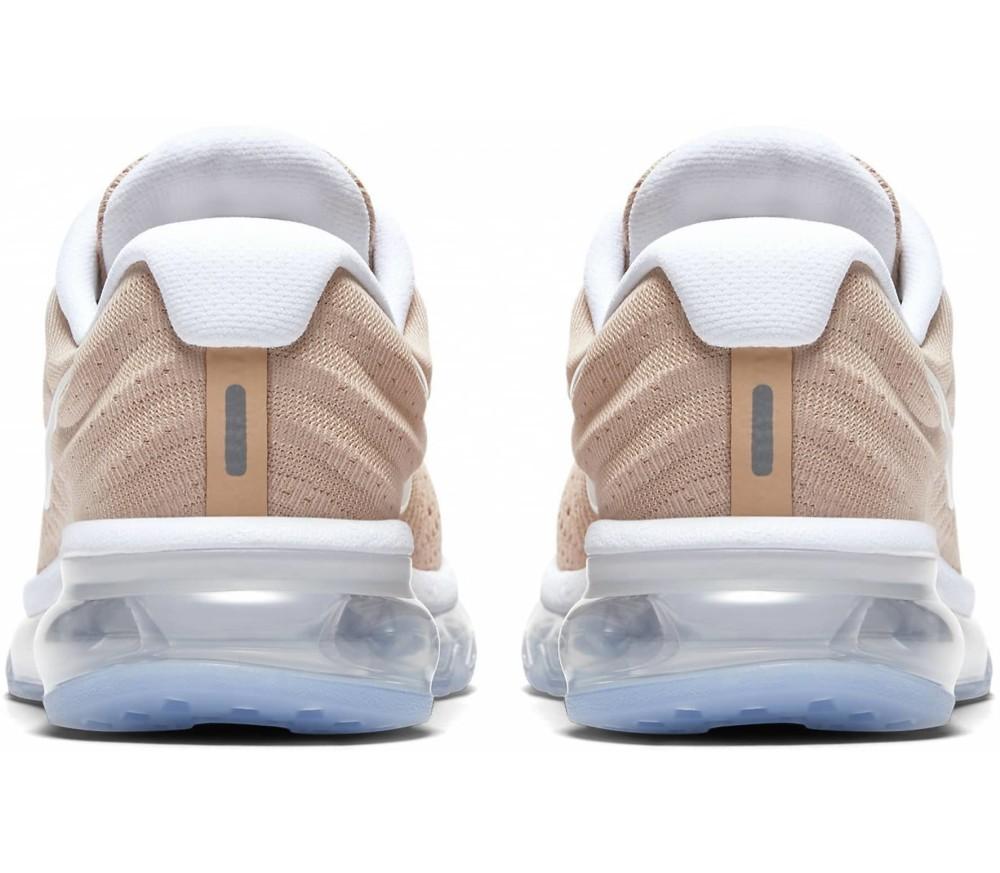 Nike - Air Max 2017 zapatillas de running para mujer (beige/blanco)