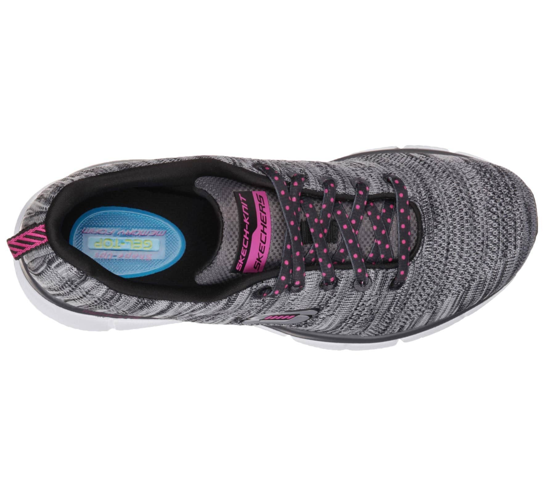 Skechers Equalizer First Rate Donna training scarpe (nero  bianca  (nero  f22169