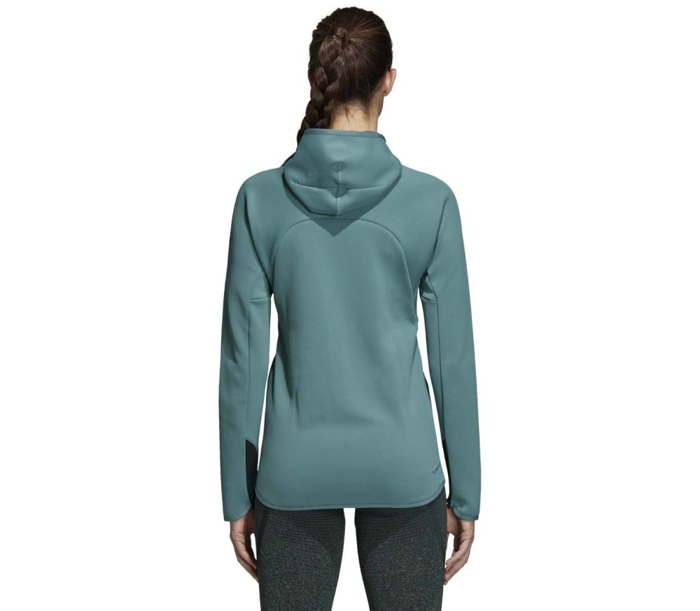 adidas Performance - Freelift CH hooded women's training jacket (turquoise)