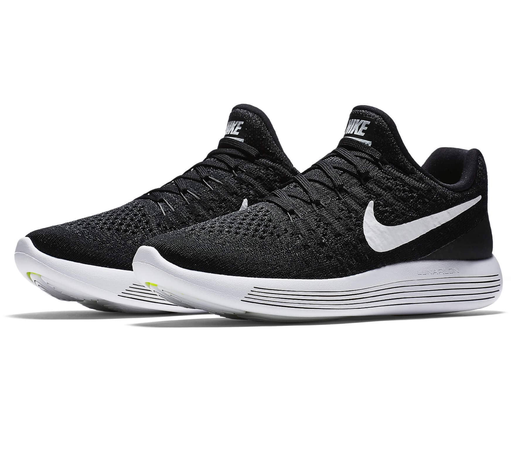 d2b2324f4 Nike - Lunar Epic Low Flyknit 2 women s running shoes (black white ...