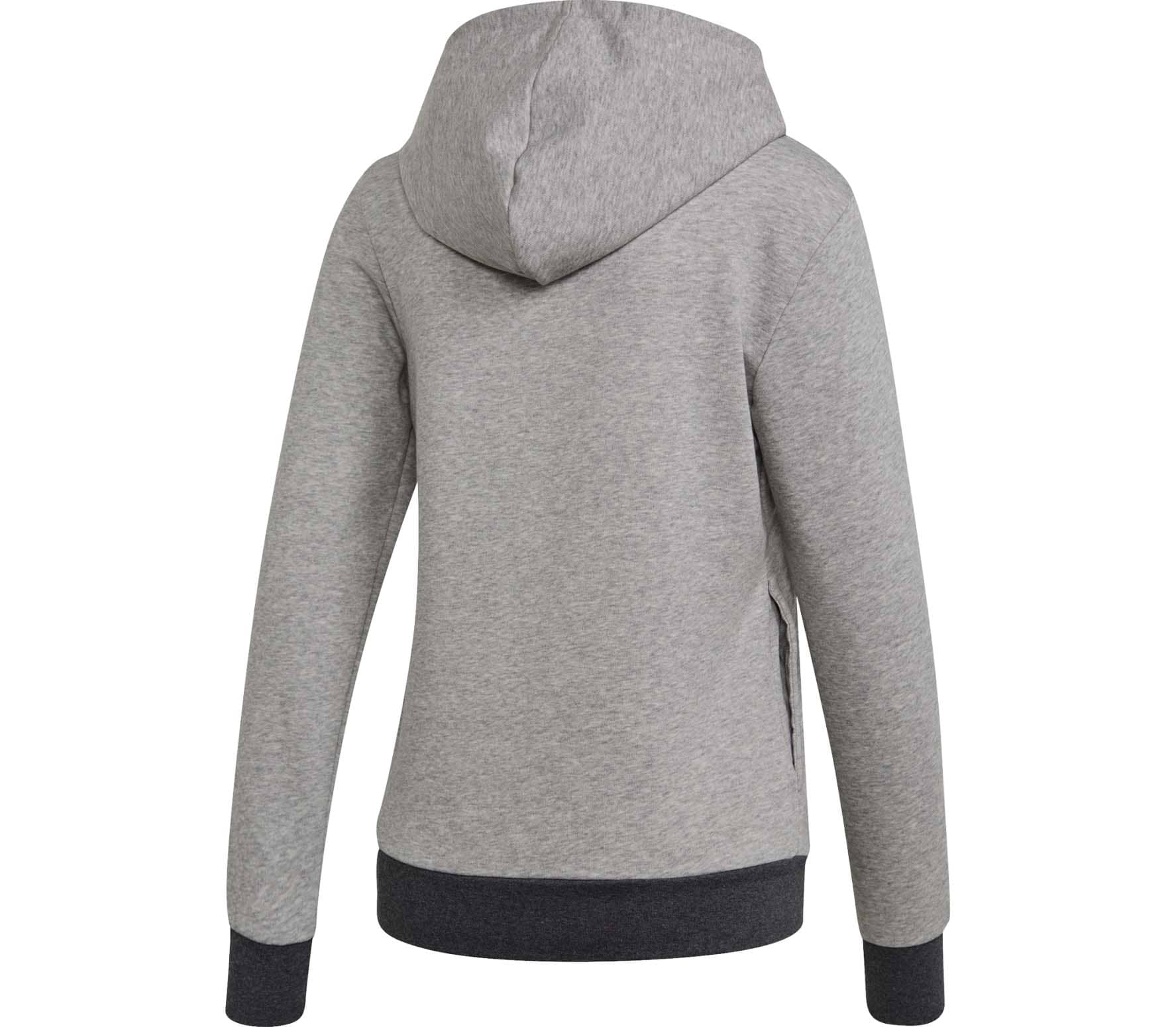 half off 2ea8c 564d6 adidas - Essentials Linear Damen Hoodie (grau)
