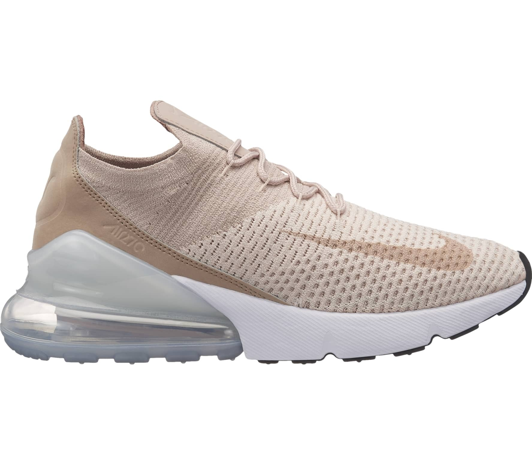 nike sportswear air max 270 flyknit damen sneaker beige. Black Bedroom Furniture Sets. Home Design Ideas