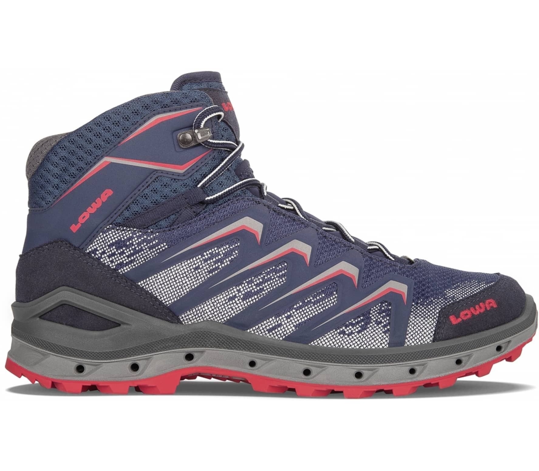 79bbc04983 Lowa - Aerox GTX® Mid men s hiking shoes (blue-red) - buy it at the ...