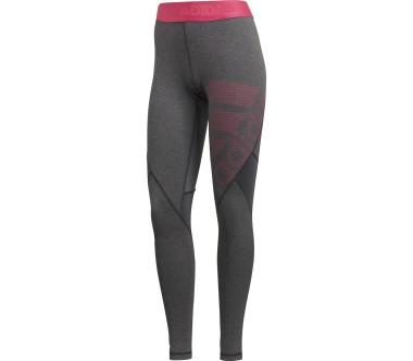 Adidas - Ask SPR TIG LG pantalon de training pour femmes (gris foncé/rose)