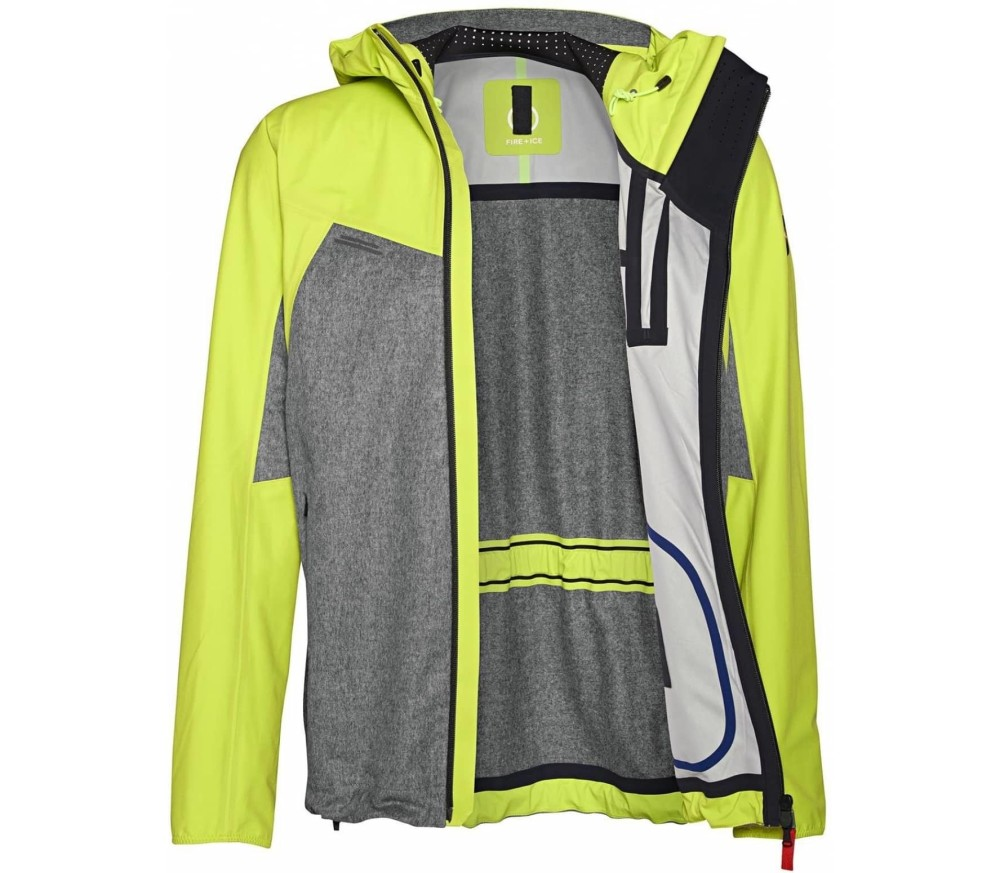 Bogner Fire   Ice - Matt men's 3 layer jacket (neon yellow/grey)