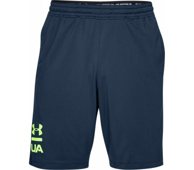 Under Armour - Raid 20 Graphic men's training shorts (dark blue/yellow)