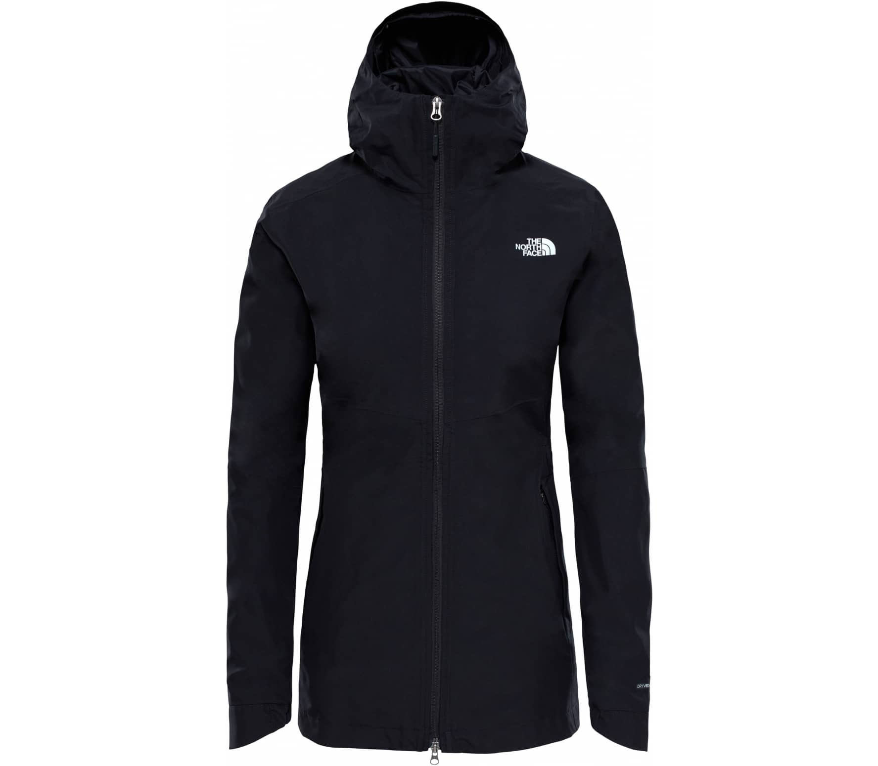 the north face hikesteller damen regenjacke schwarz im online shop von keller sports kaufen. Black Bedroom Furniture Sets. Home Design Ideas