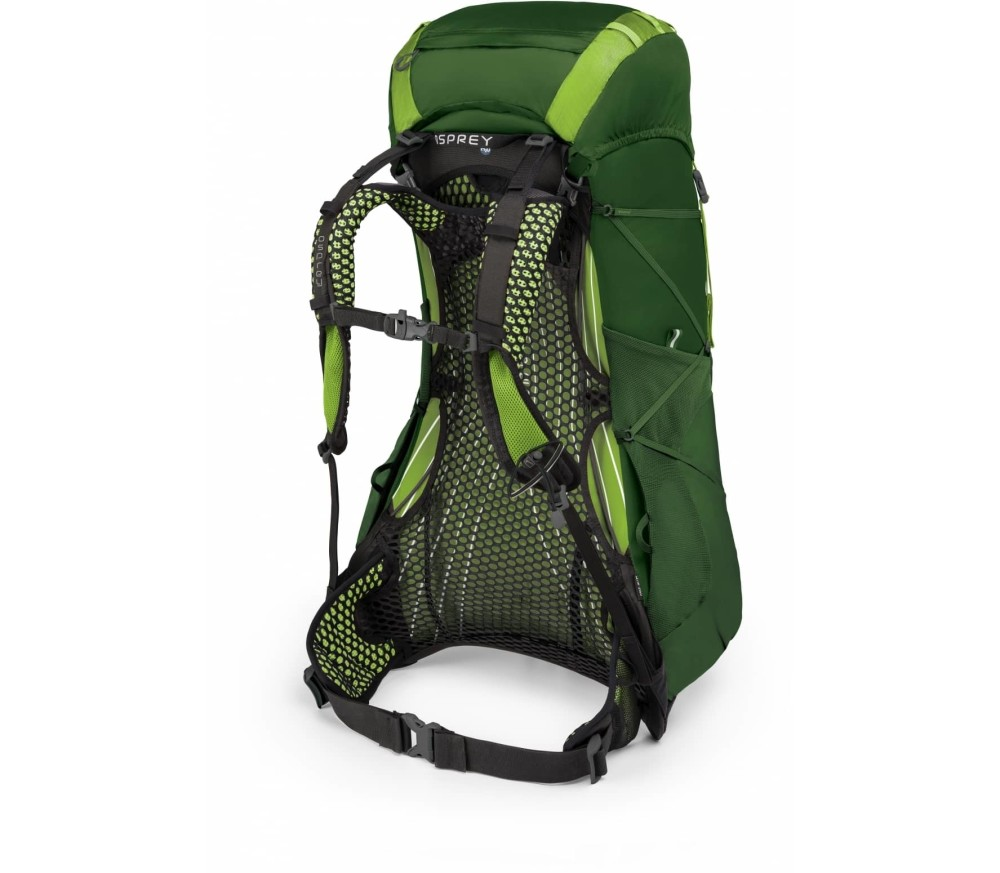 Osprey - Exos 38 Unisex technical hiking backpack (black/green)