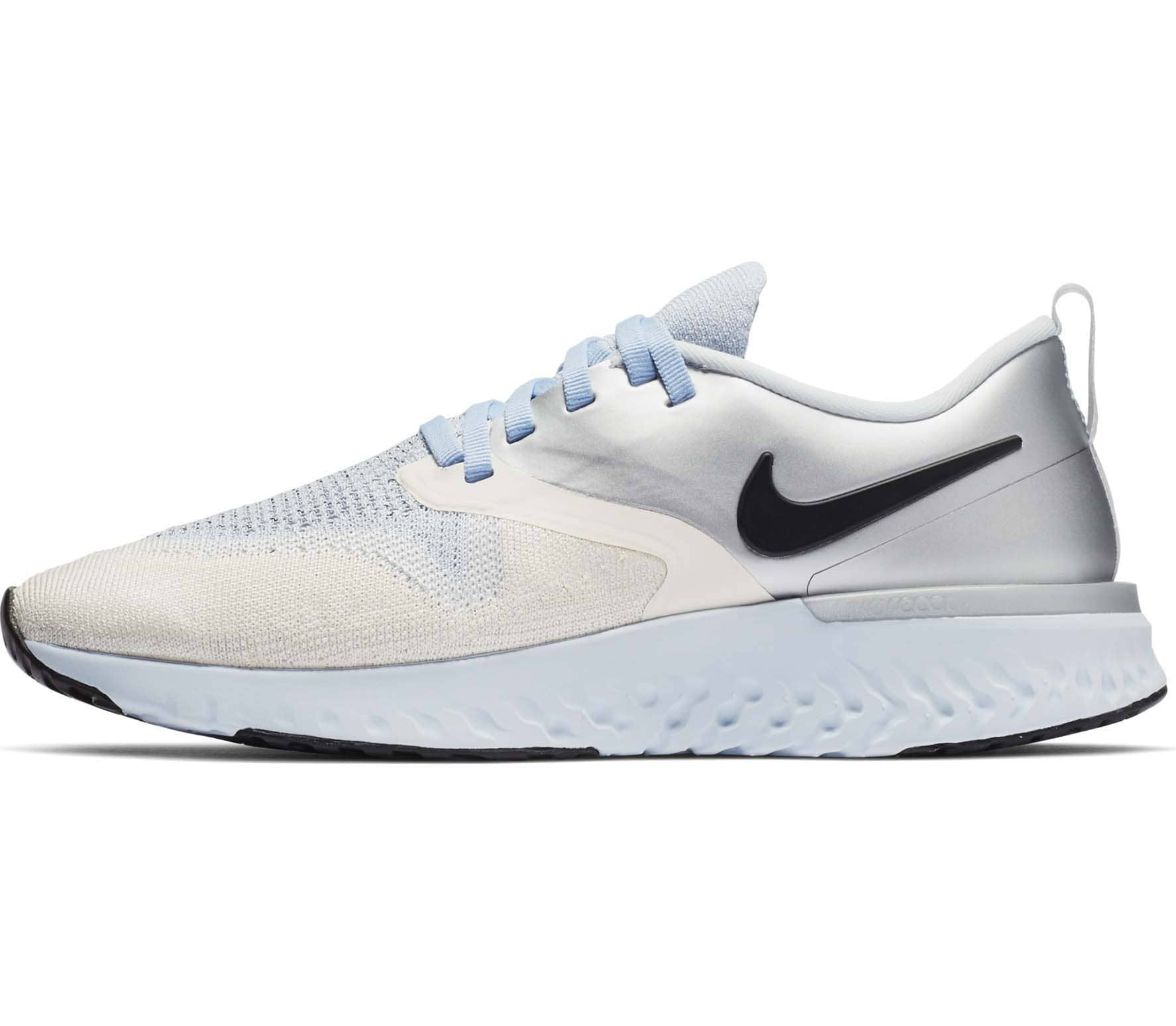 the latest 129c8 f53c7 Nike - Odyssey React 2 Flyknit Premium women s running shoes (silver blue)