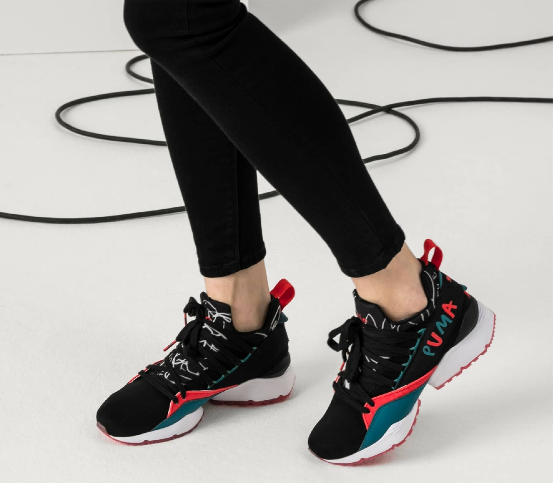 Puma X Shantell Martin Muse Maia women s trainers (black red) online ... 4a7a401fb1