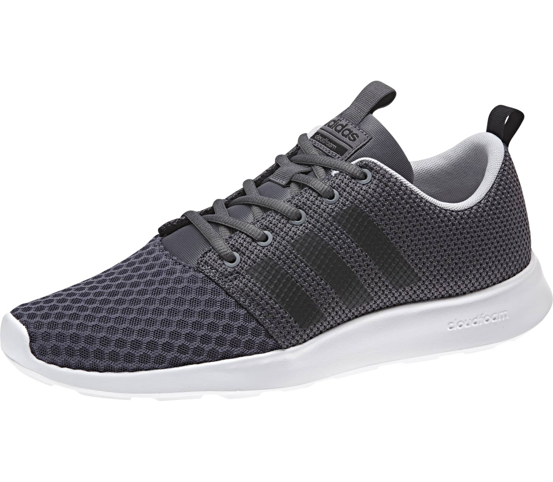 timeless design 6177d 7e93f ... dame neo 4fd5d 8ce9c spain adidas neo cf swift racer mens running shoes  dark grey black c40c7 ea054 ...