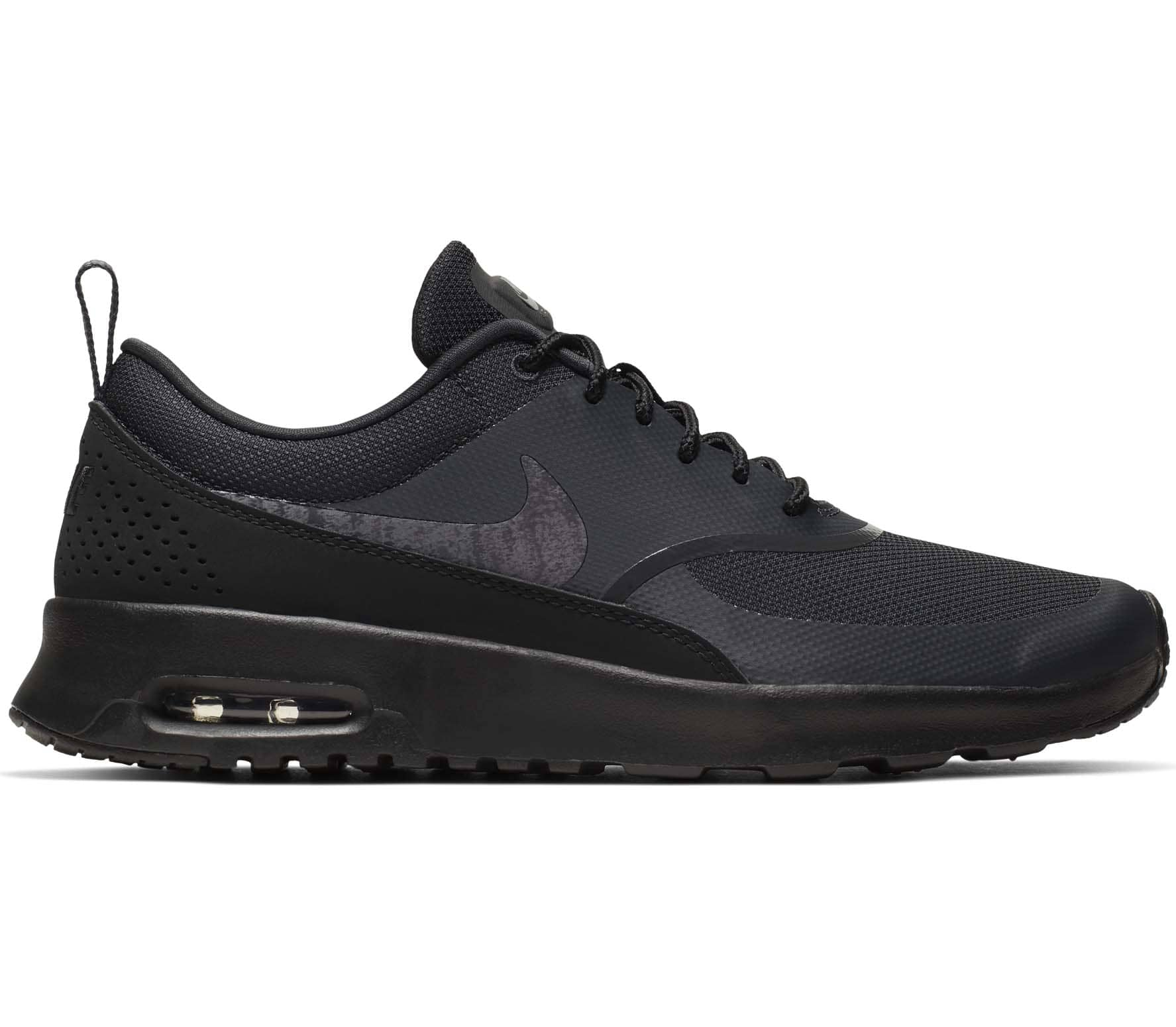 Nike Air Max Thea Black Leather sneakers. Women's US