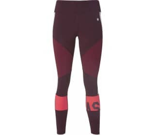 Color Block Cropped  2 Women Running Tights