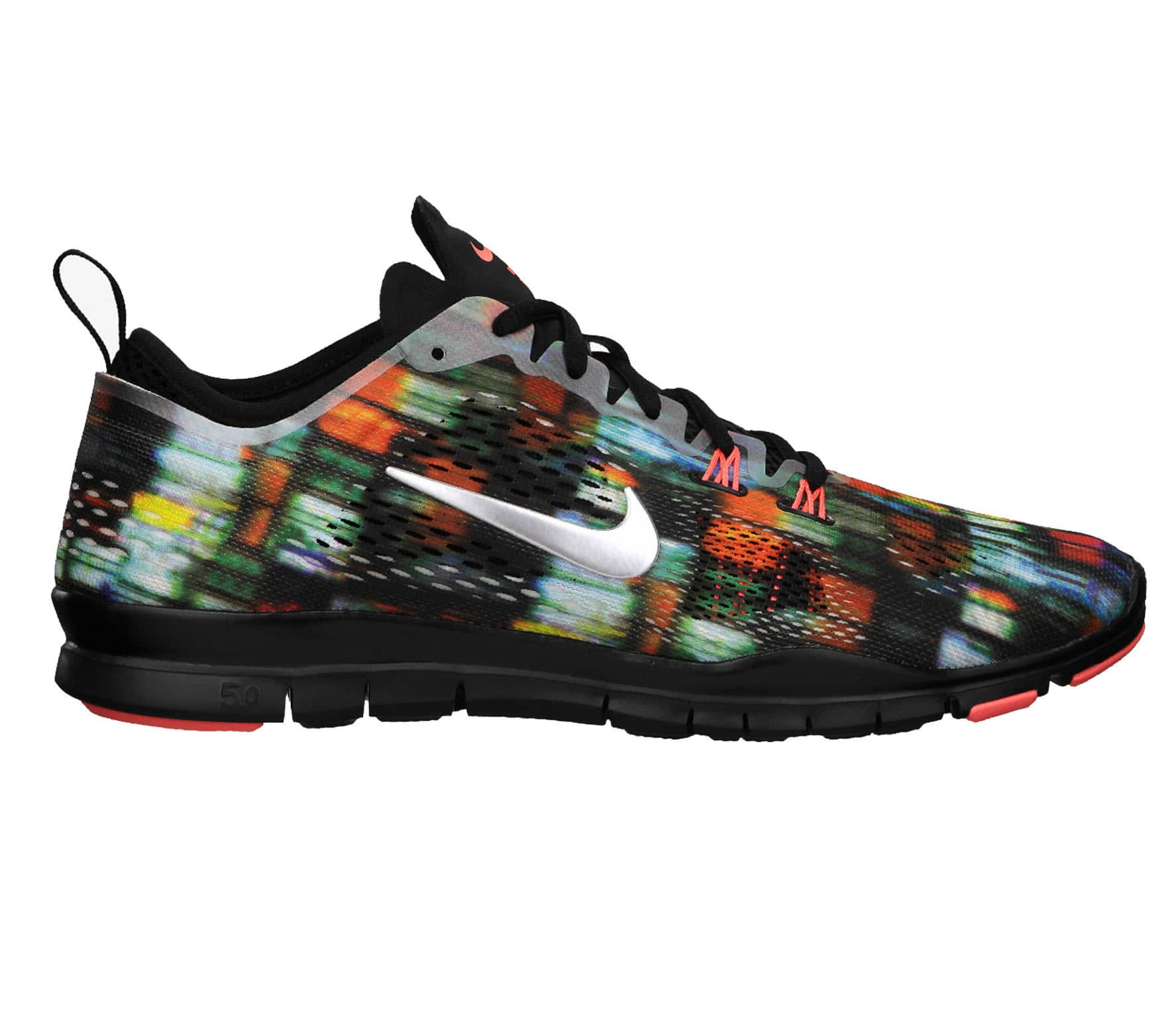 wholesale dealer 5dc50 68422 Nike - Free 5.0 Trainer Fit 4 PRT Damen Trainingsschuh (schwarzbunt)