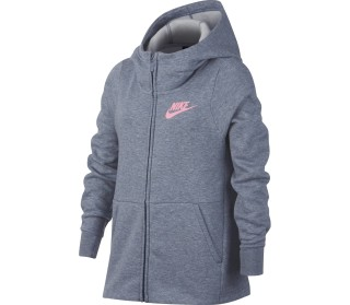 Nike Sportswear Junior Trainingshoodie Kinder silber