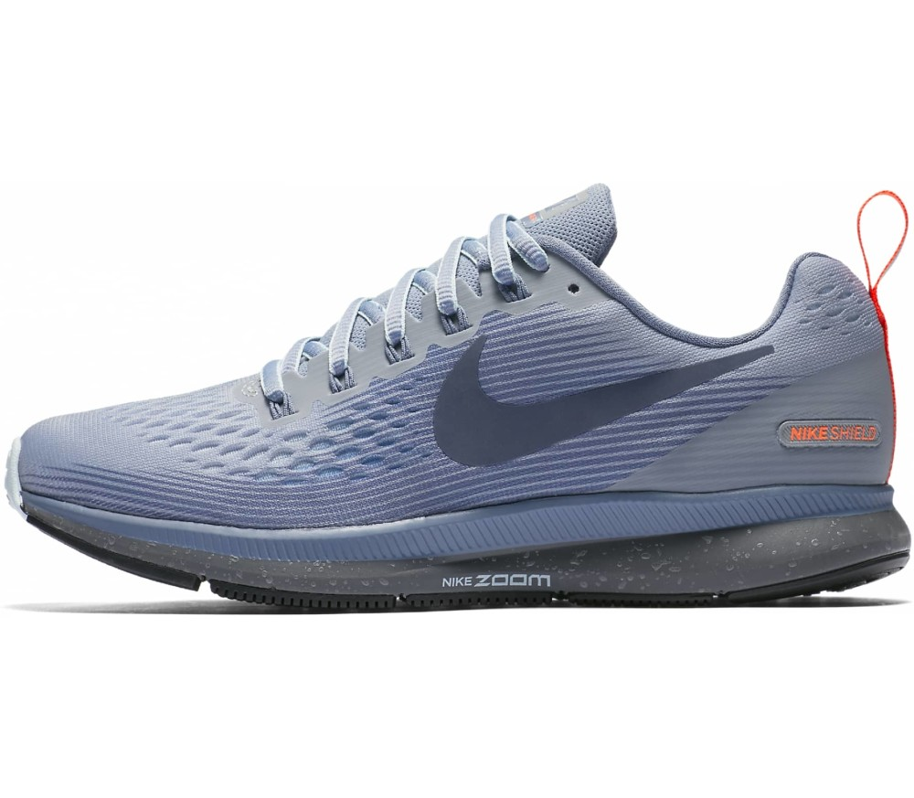 6b3712a1d1a Nike - Air Zoom Pegasus 34 Shield women s running shoes (grey blue ...