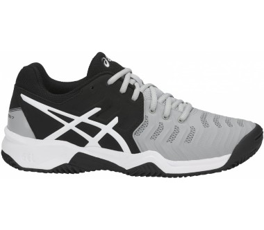 ASICS Gel-Resolution 7 Clay Gs Junior Tennisschuh Kinder silber