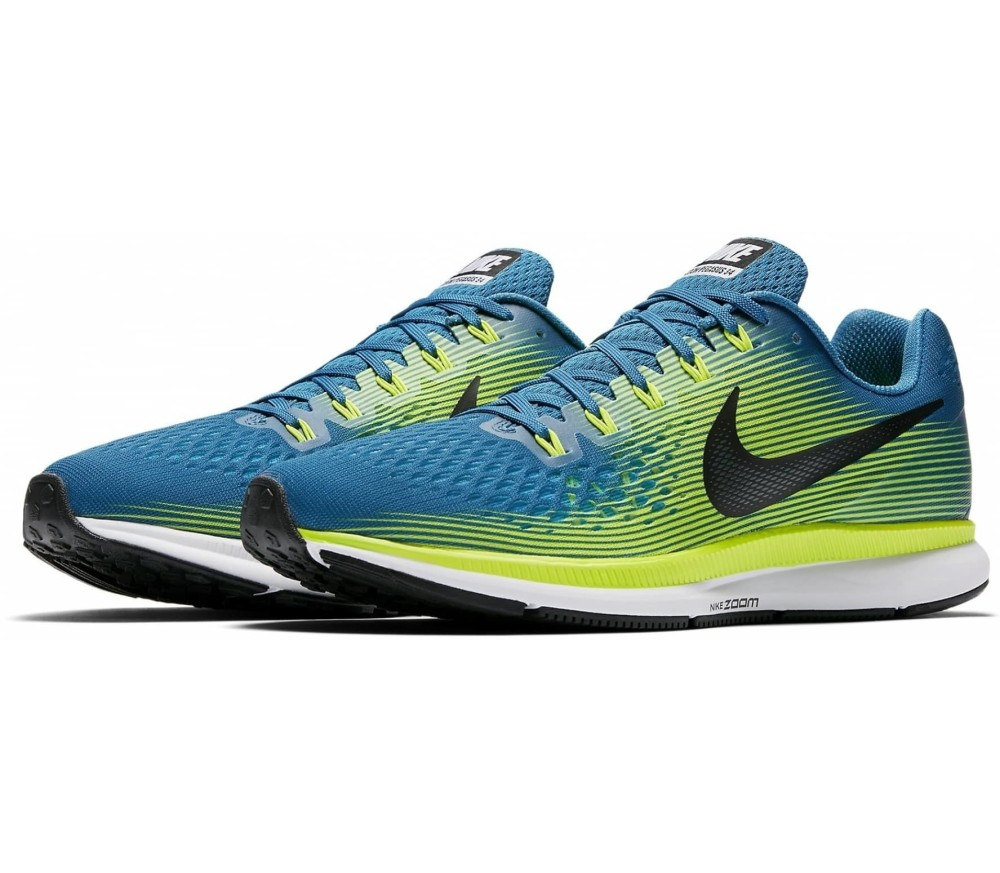 ed269c3bd9ba ... best price nike air zoom pegasus 34 mens running shoes blue green b5562  dae16