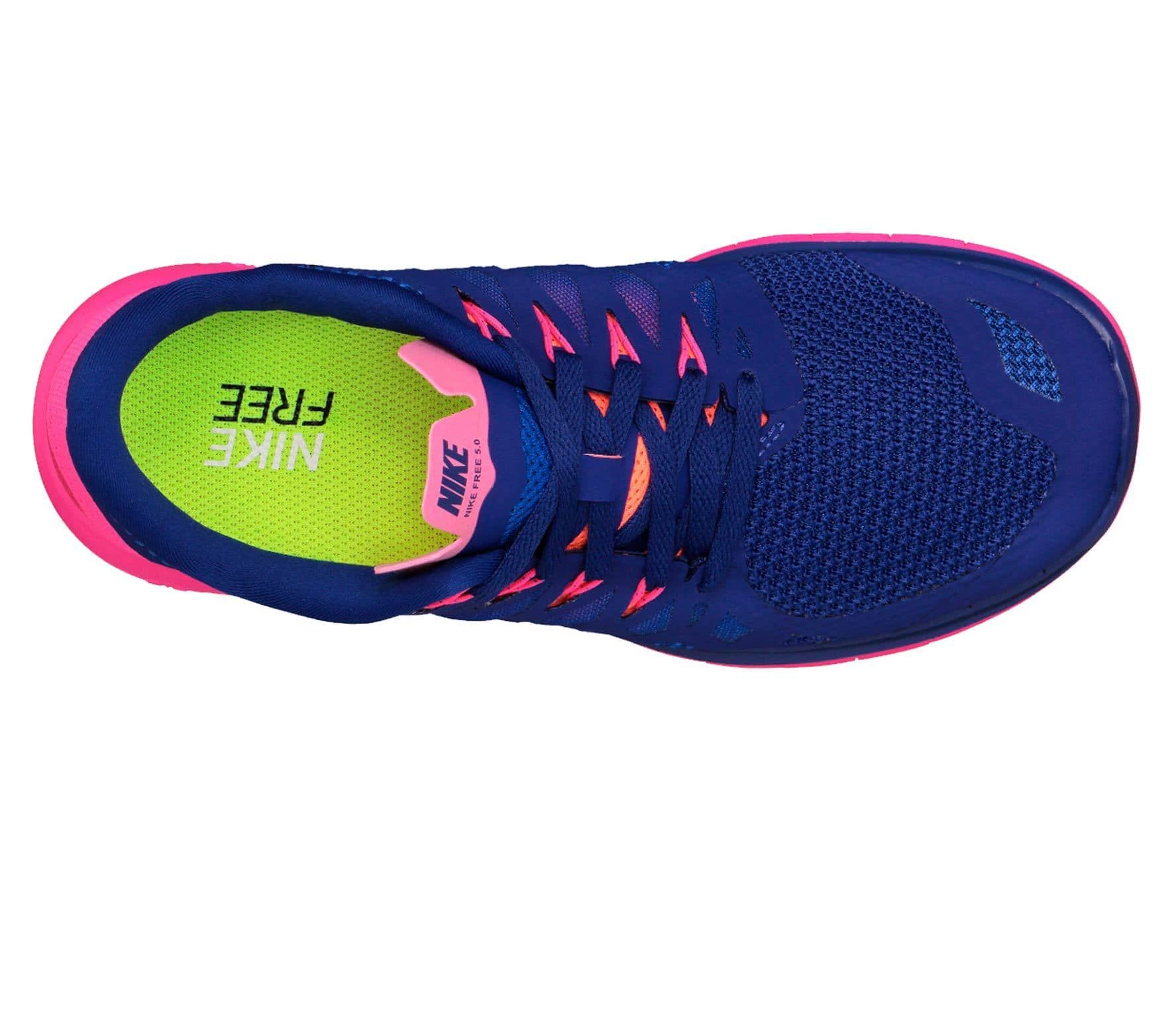 the latest e0144 a58a0 Nike - Free 5.0 womens running shoes (bluepink)