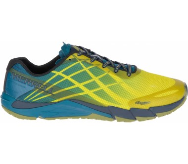 Merrell - Bare Access Flex men's mountain running shoes (yellow/blue)
