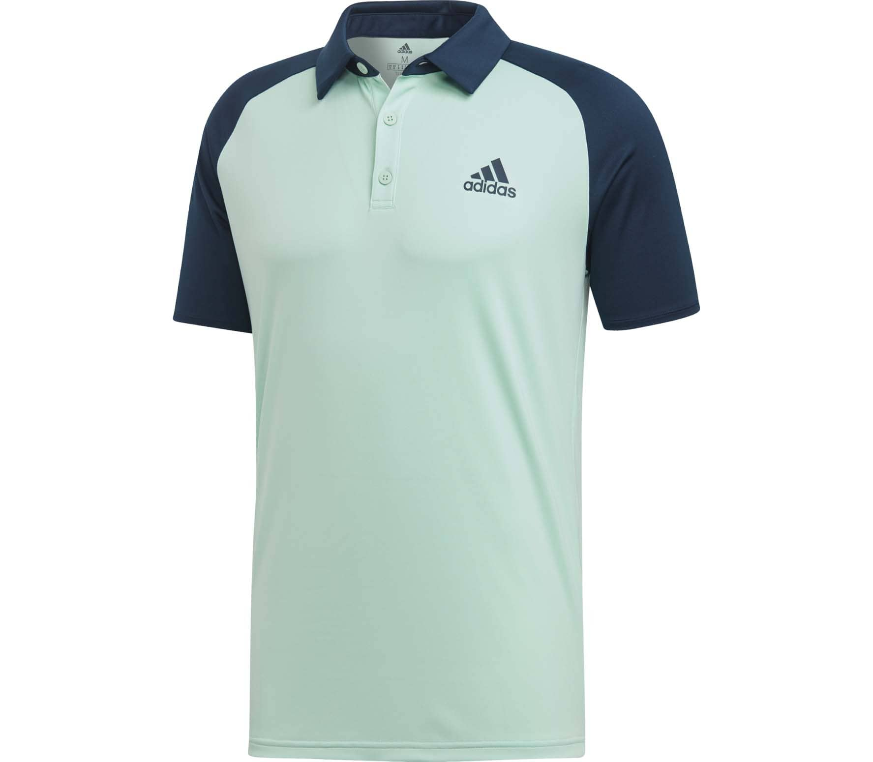 911a96d4e5 adidas Performance - Club C/B men's tennis polo top (turquoise/blue ...
