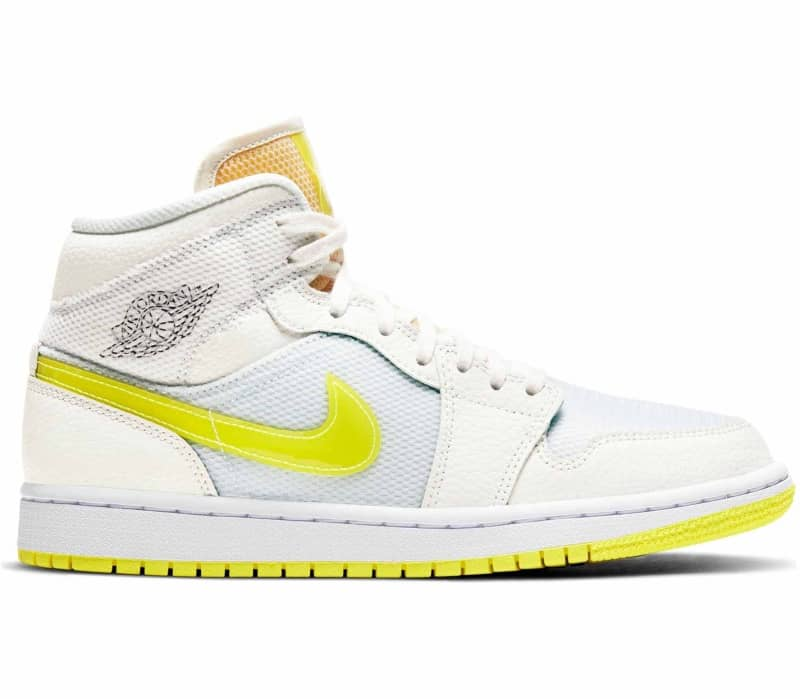 Air Jordan 1 Mid SE 'Voltage Yellow' Dam Sneakers