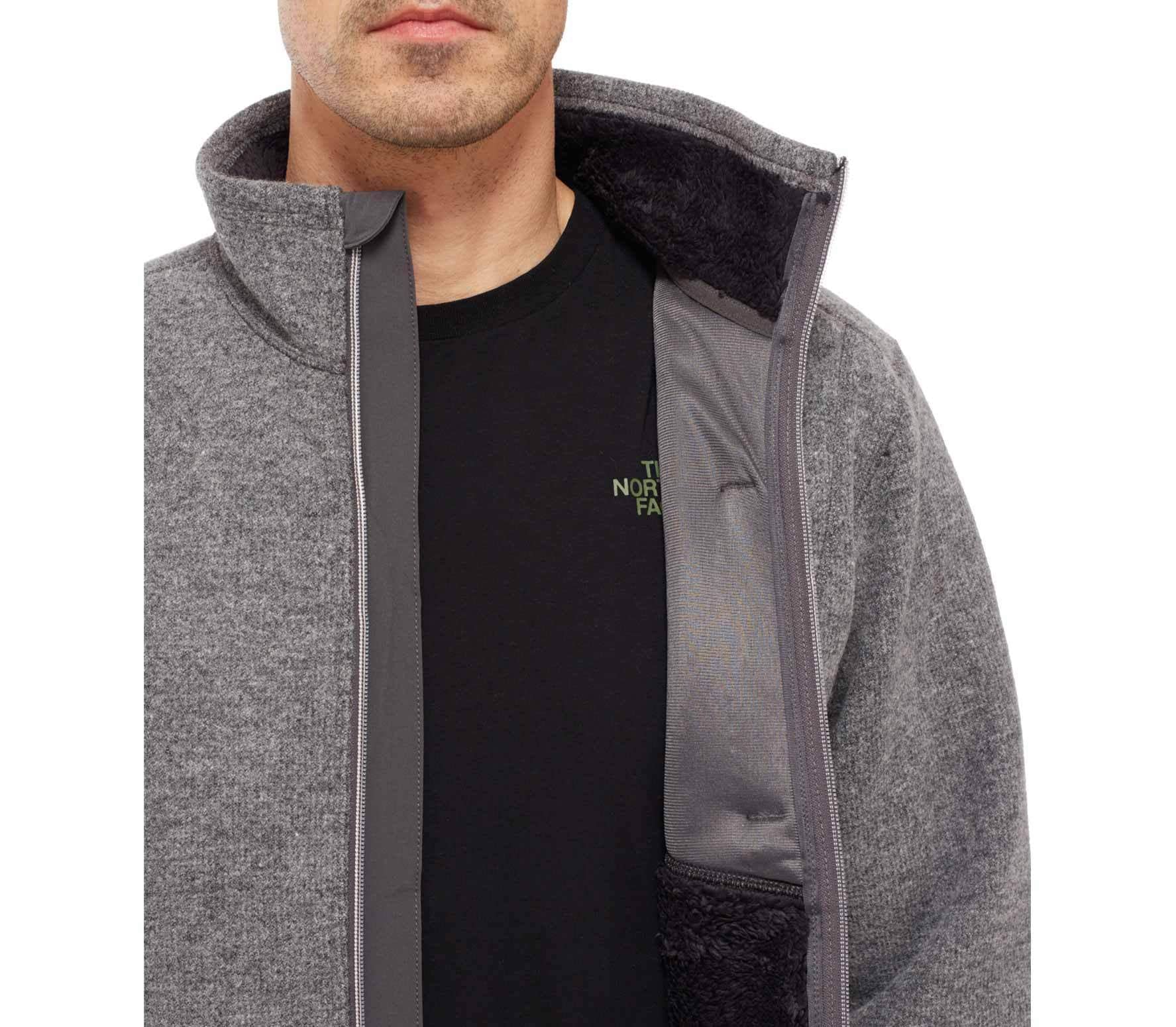 The North Face - Zermatt Full Zip Uomo giacca in pile (grigio) 152db6620670