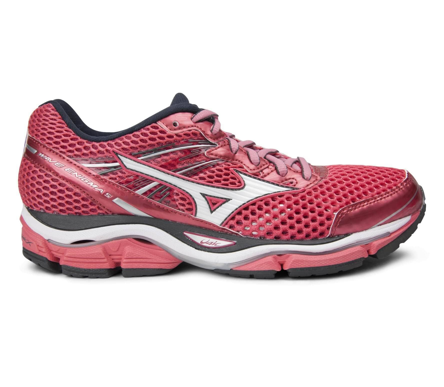 mizuno wave enigma 5 women 39 s running shoes pink dark grey buy it at the keller sports. Black Bedroom Furniture Sets. Home Design Ideas