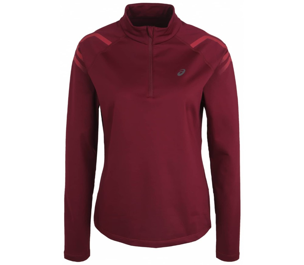 ASICS - Icon Winter LS 1/2 Zip Damen Laufshirt (rot)