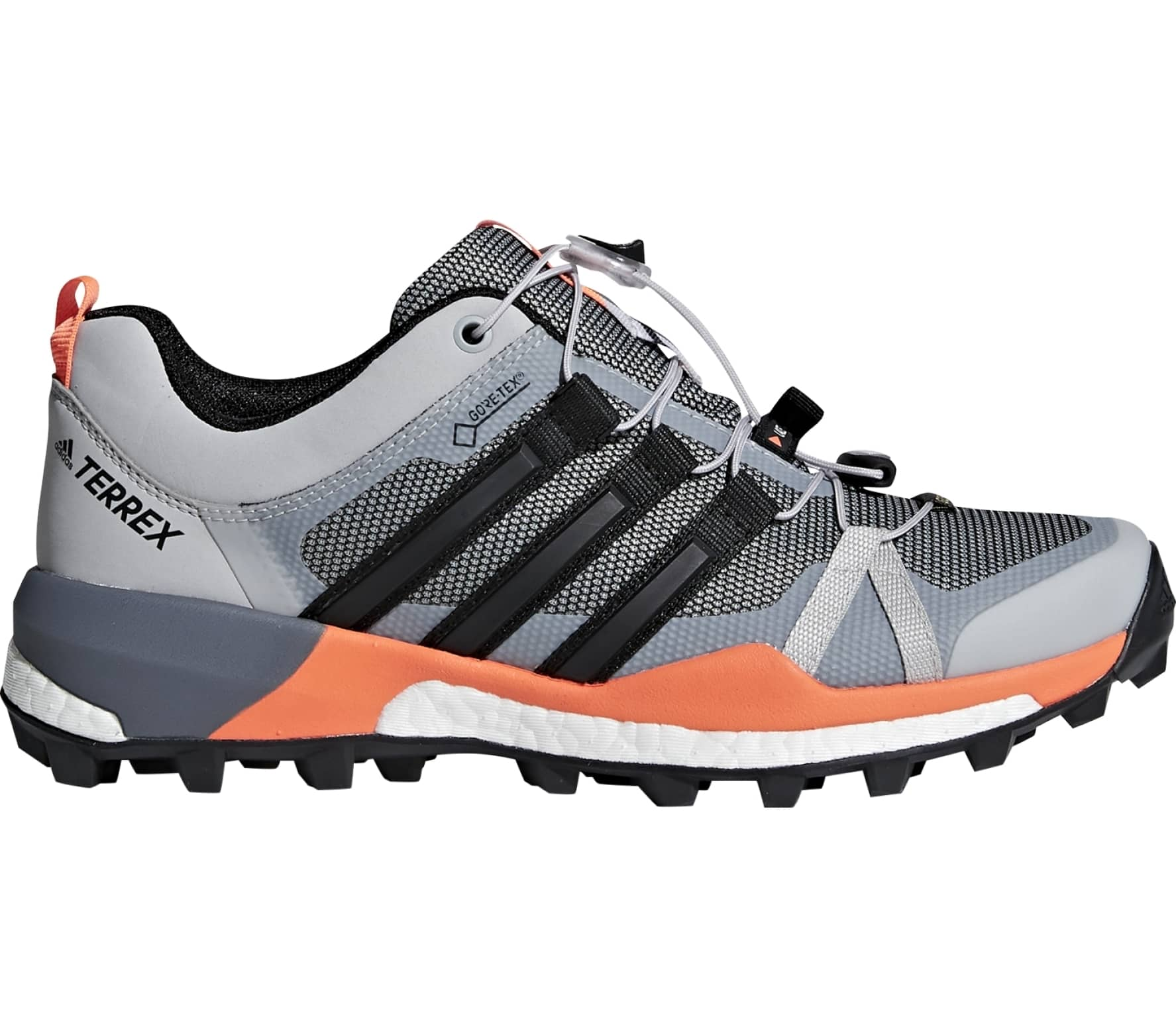 757cfcff9e08 Adidas - Terrex Skychaser Gtx women s mountain running shoes (grey orange)