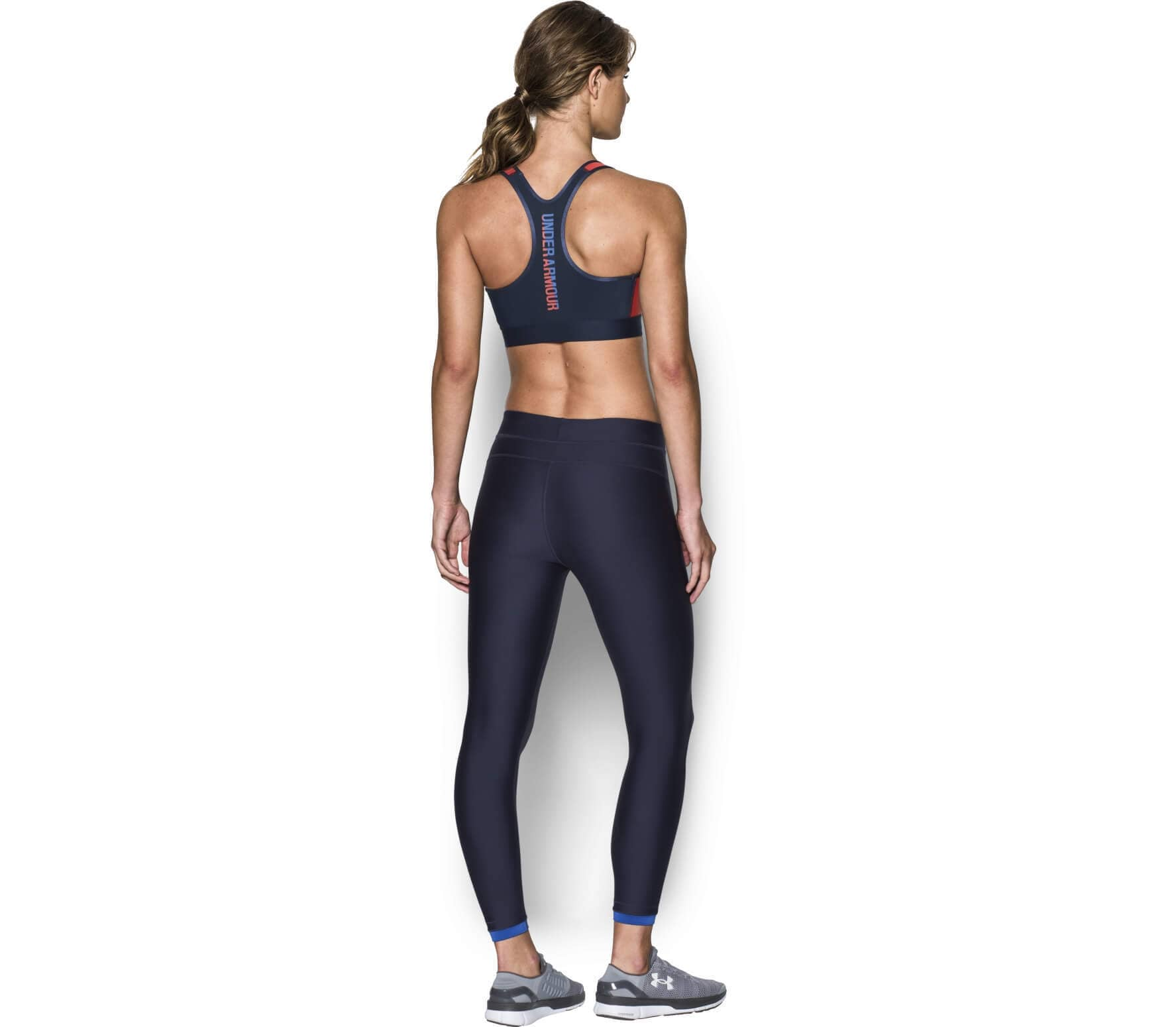1c0aaa3119 Under Armour - Armour Mid Graphic women s training bra (red blue ...