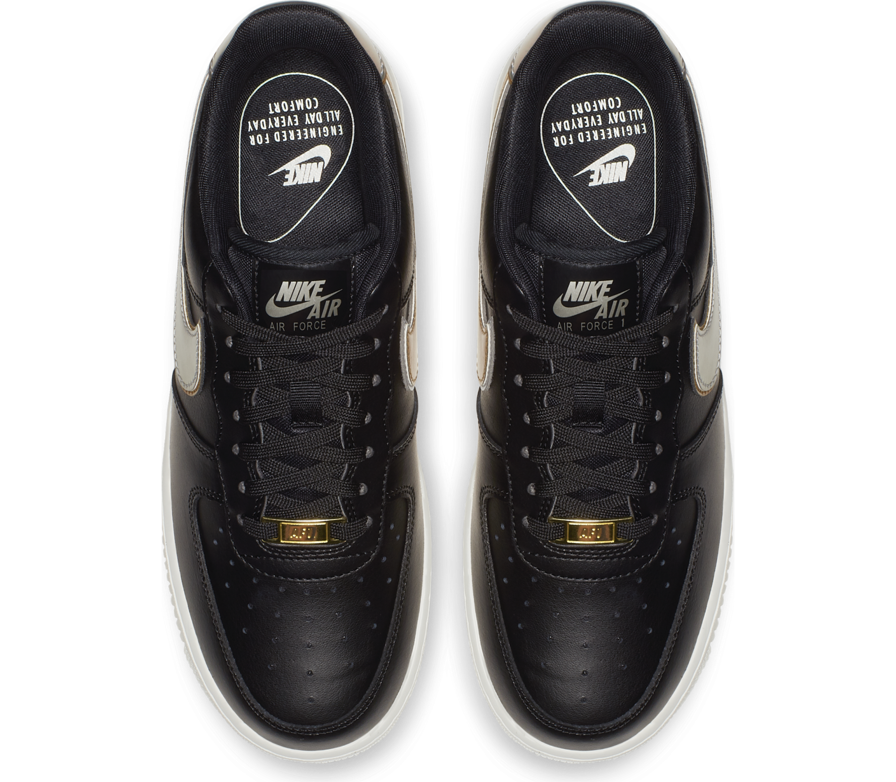 Nike Sportswear - Air Force 1 '07 Metallic Damen Sneaker (schwarz)