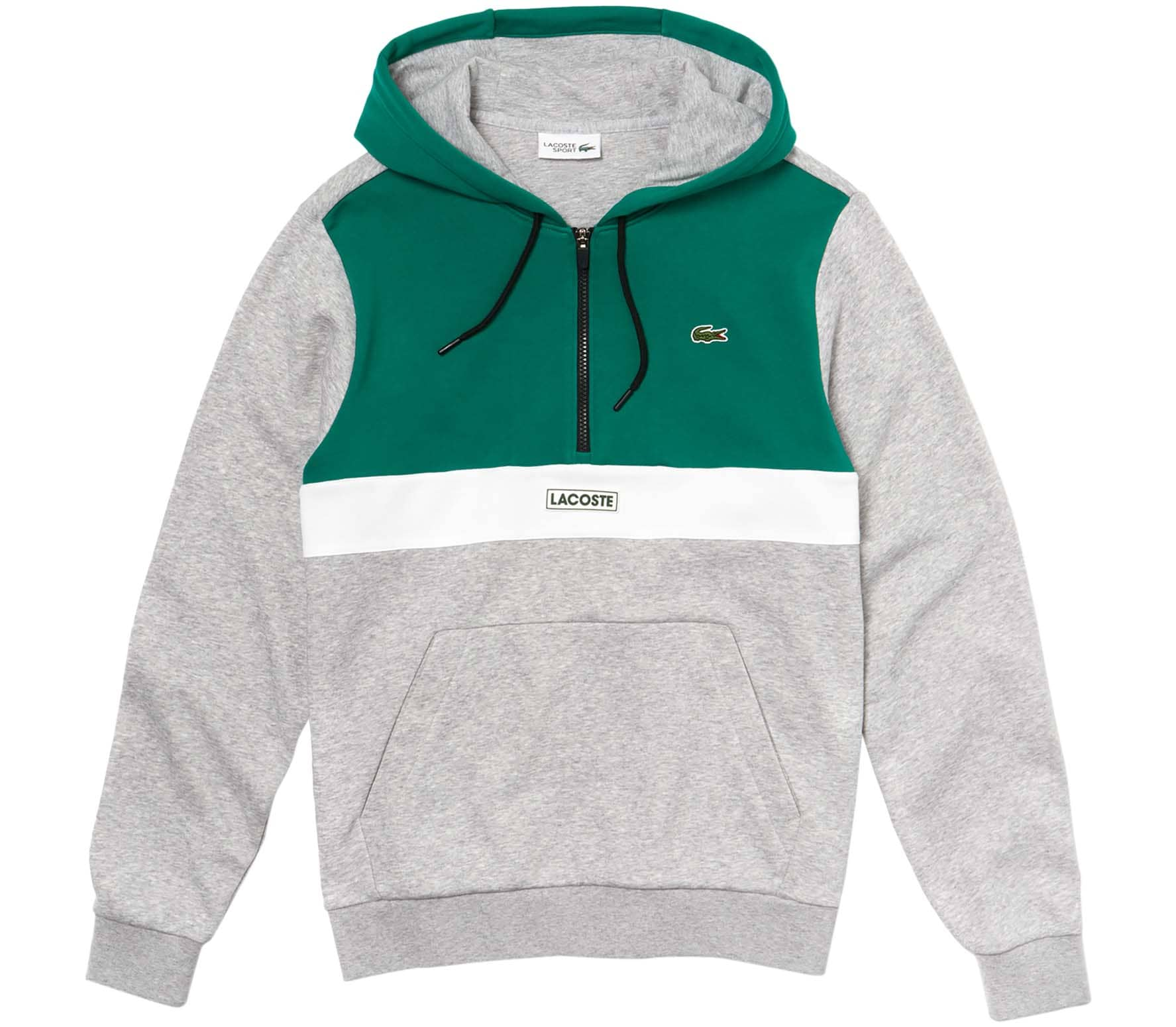 check out f9bc0 4795c Lacoste SH3505 Men Hoodie grey