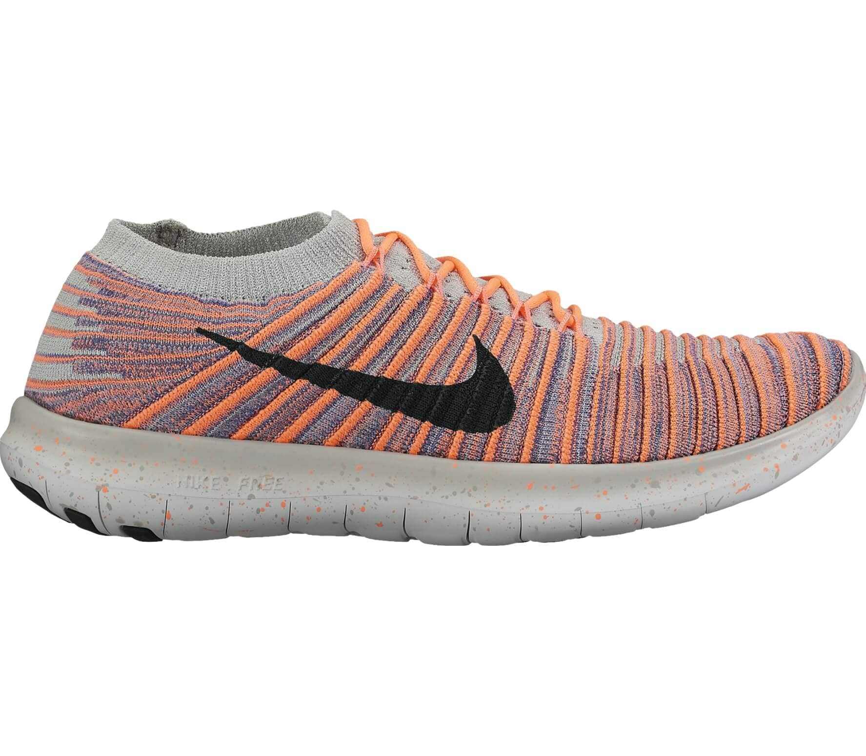 nike free run motion fly knit damen laufschuh orange. Black Bedroom Furniture Sets. Home Design Ideas