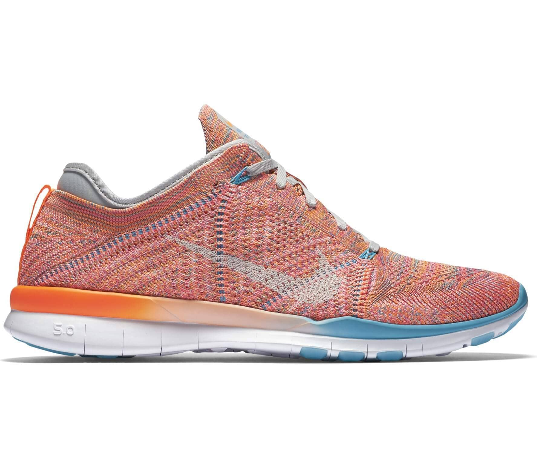 buy online d5ed0 7f4b7 Nike - Free TR Flyknit women s training shoes (orange white)