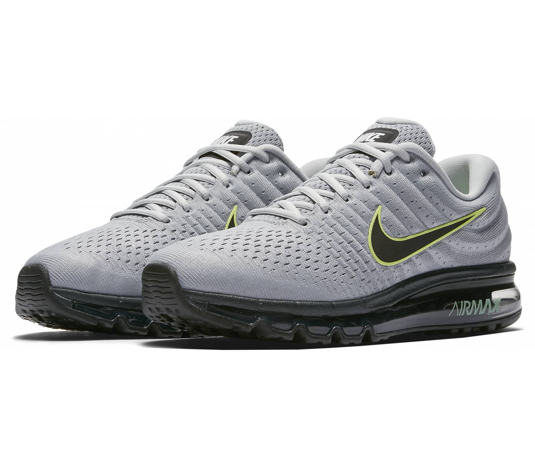 huge selection of 8a3db 4b5ca Nike - Air Max 2017 Herren Laufschuh (grau schwarz)