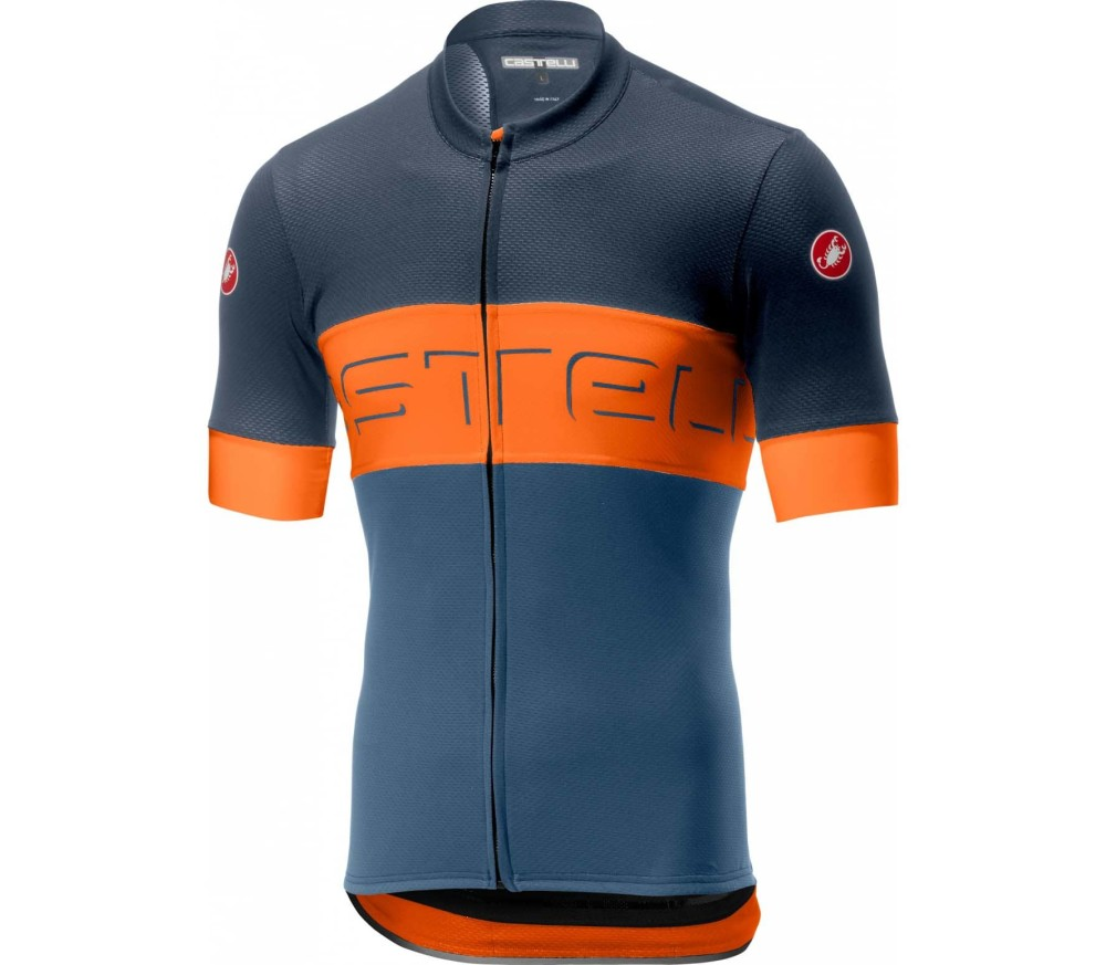 Castelli - Prologo VI men's Jersey (blue/orange)