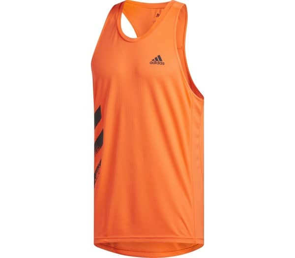 ADIDAS Own The Run Singlet PB 3-Streifen Heren Hardlooptop - 1