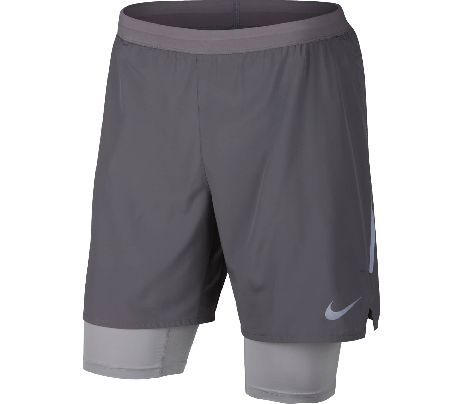 ad52866a0697 Nike -  Distance 2-in-1  7 inch men s running shorts (grey) - buy it ...