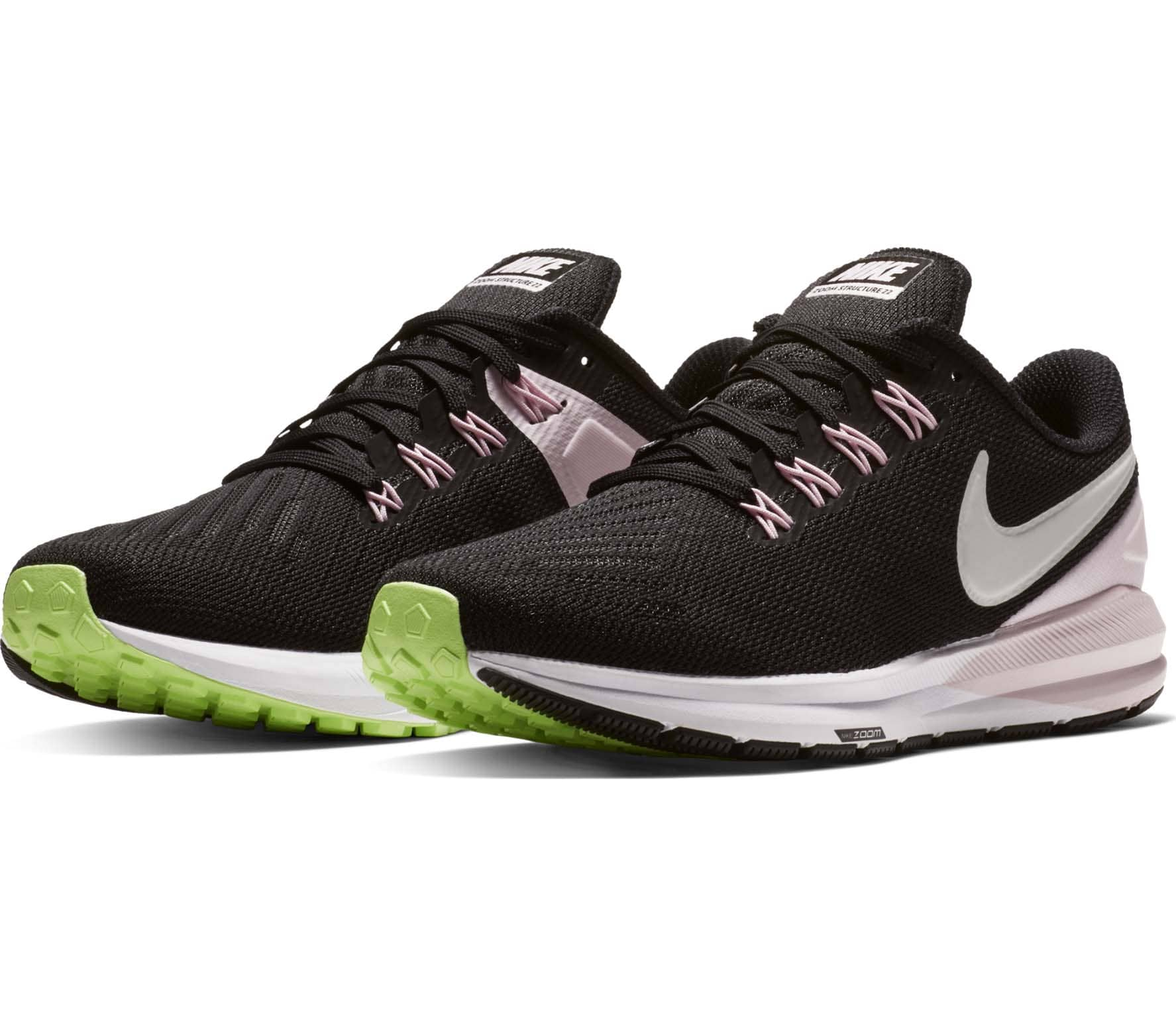 c6c5ab0f59d41 Nike - Air Zoom Structure 22 women s running shoes (black pink ...