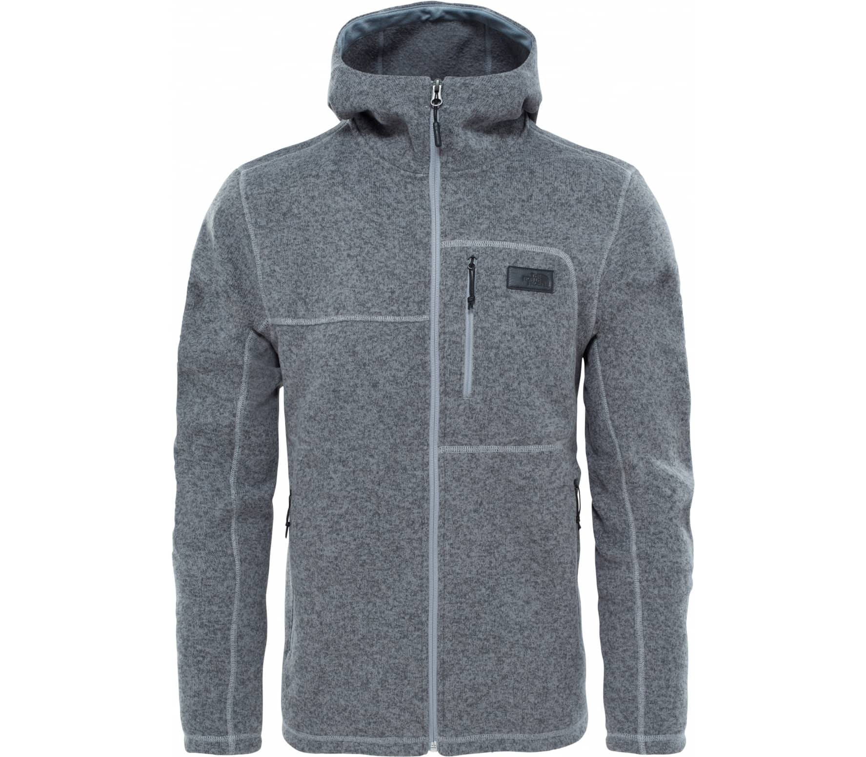 56f4b8c7edeb The North Face - Gordon Lyons Hoodie Herren Strickfleecejacke (grau ...