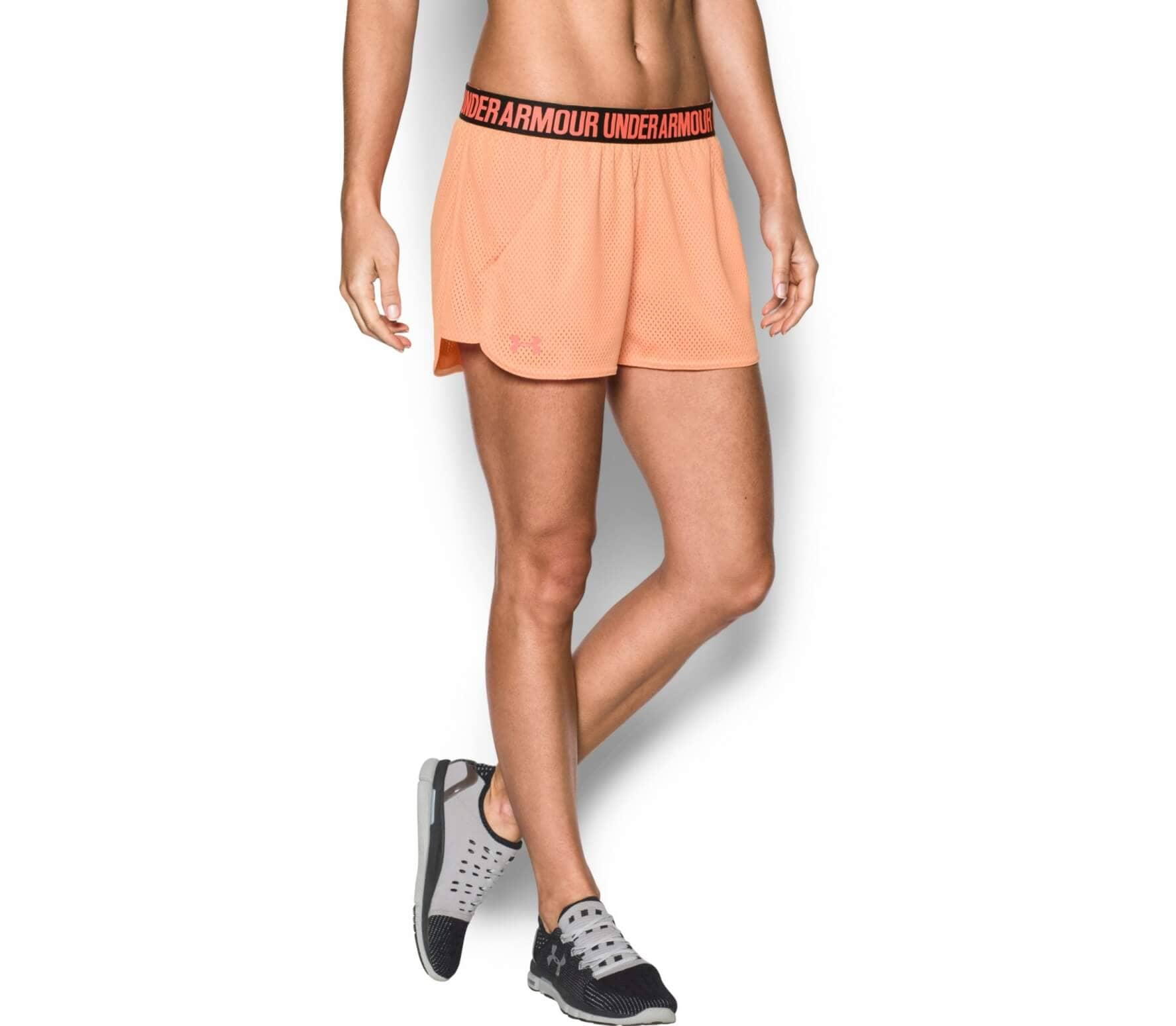 under armour mesh play up women 39 s training shorts damen im. Black Bedroom Furniture Sets. Home Design Ideas