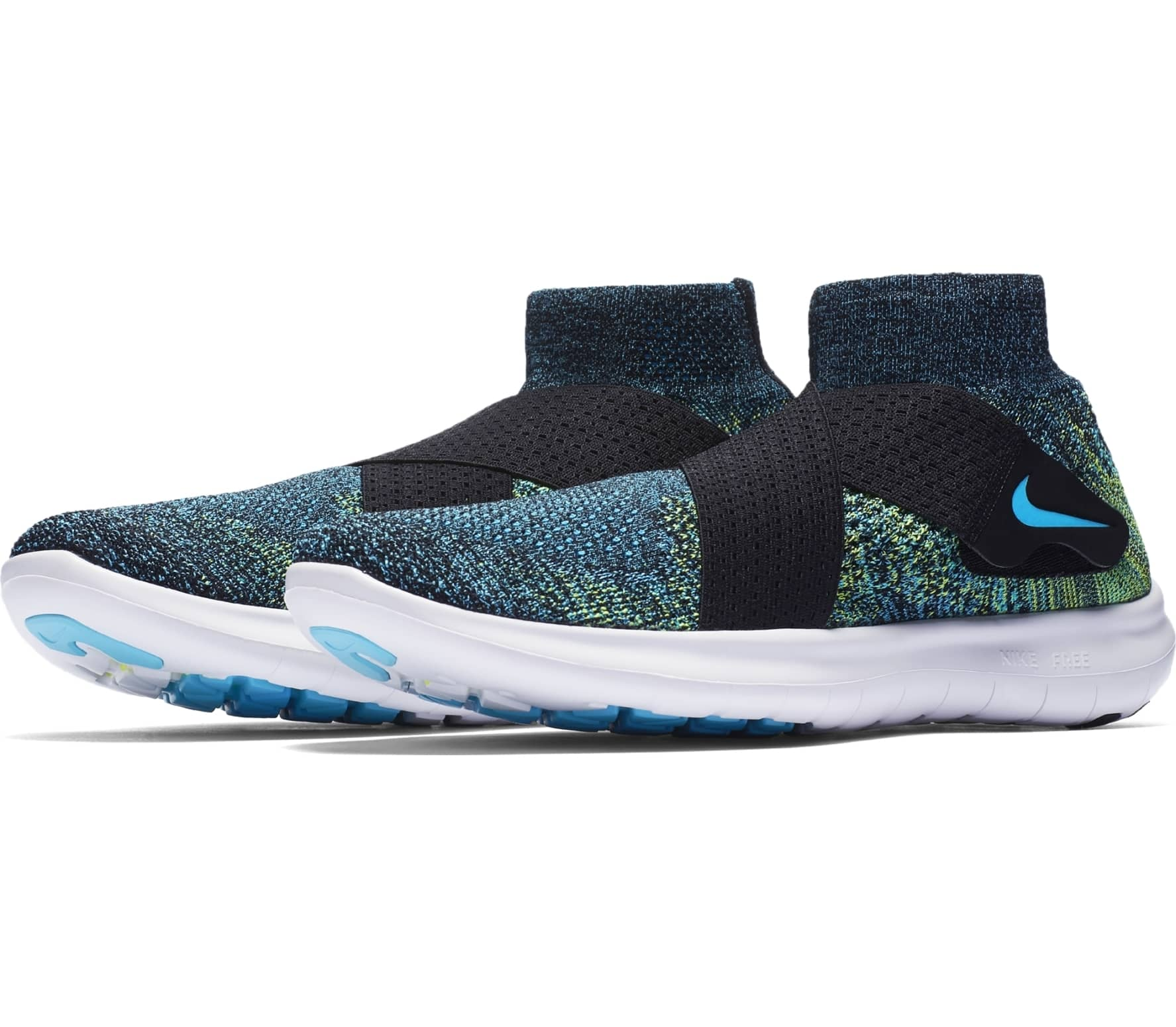 the best attitude 8fc82 2bbfd Nike - Free RN Motion Flyknit 2 men's running shoes (blue/black)