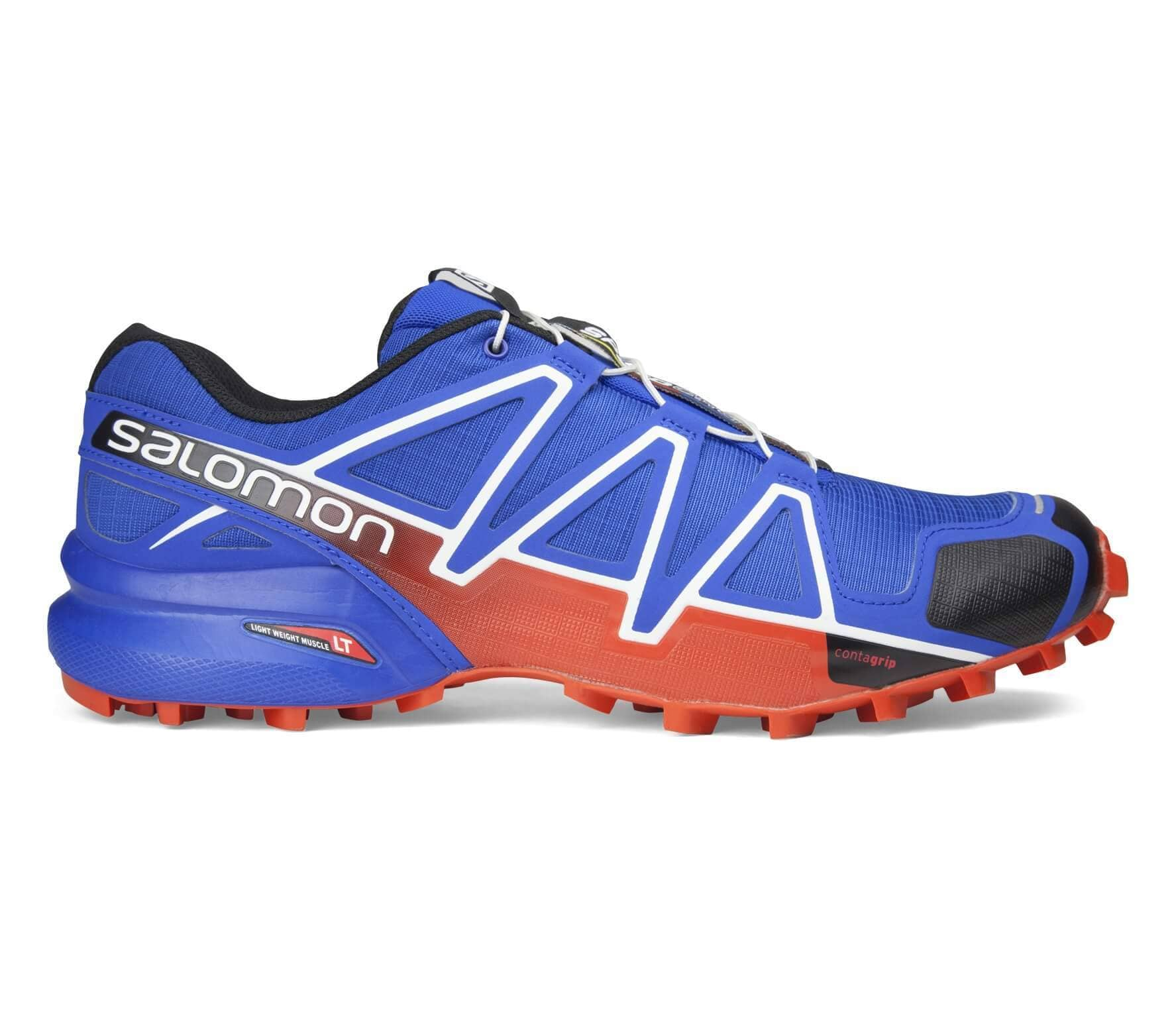 Salomon Speedcross 4 Gtx Bleu Orange Homme Bleu En Ligne
