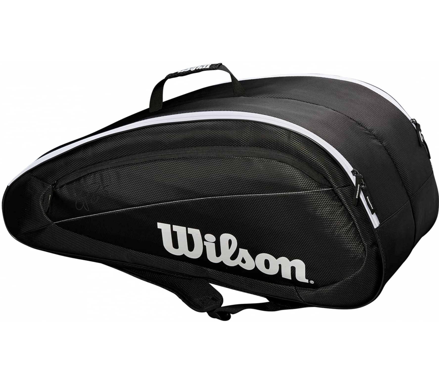 Wilson - Fed Team 12 Pack men's tennis bag (black/white)