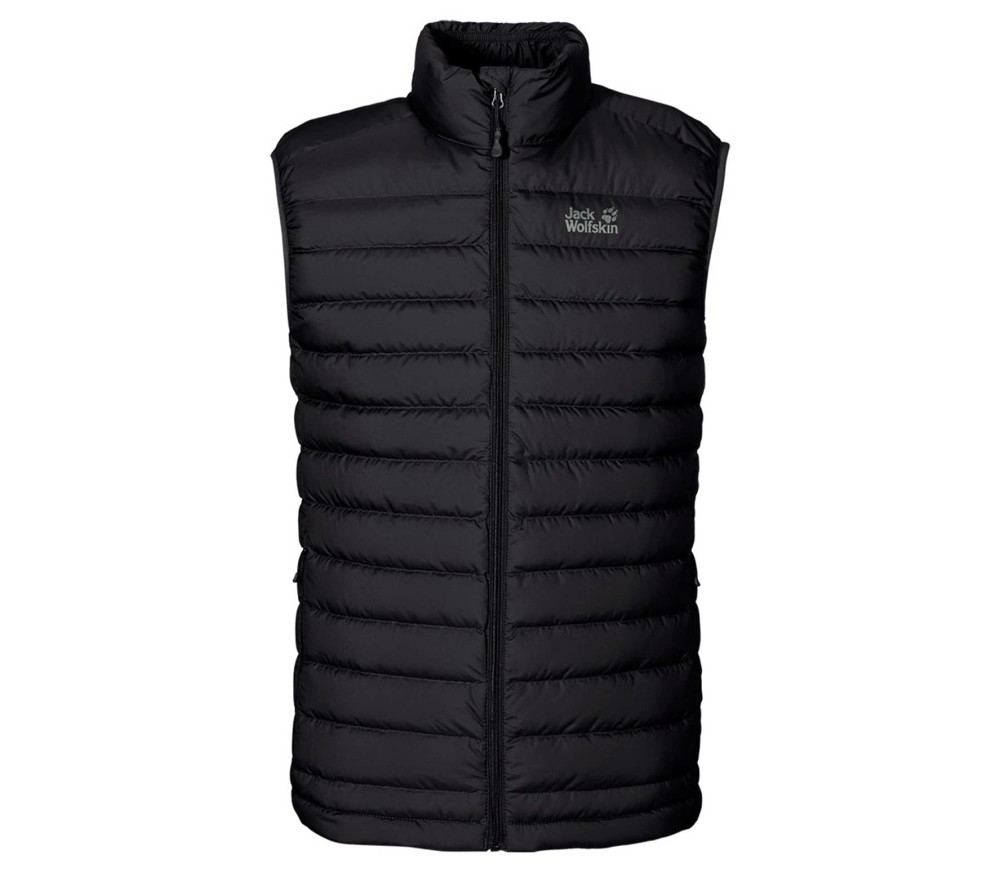 jack wolfskin helium down heren body warmer zwart online kopen in de keller sports. Black Bedroom Furniture Sets. Home Design Ideas