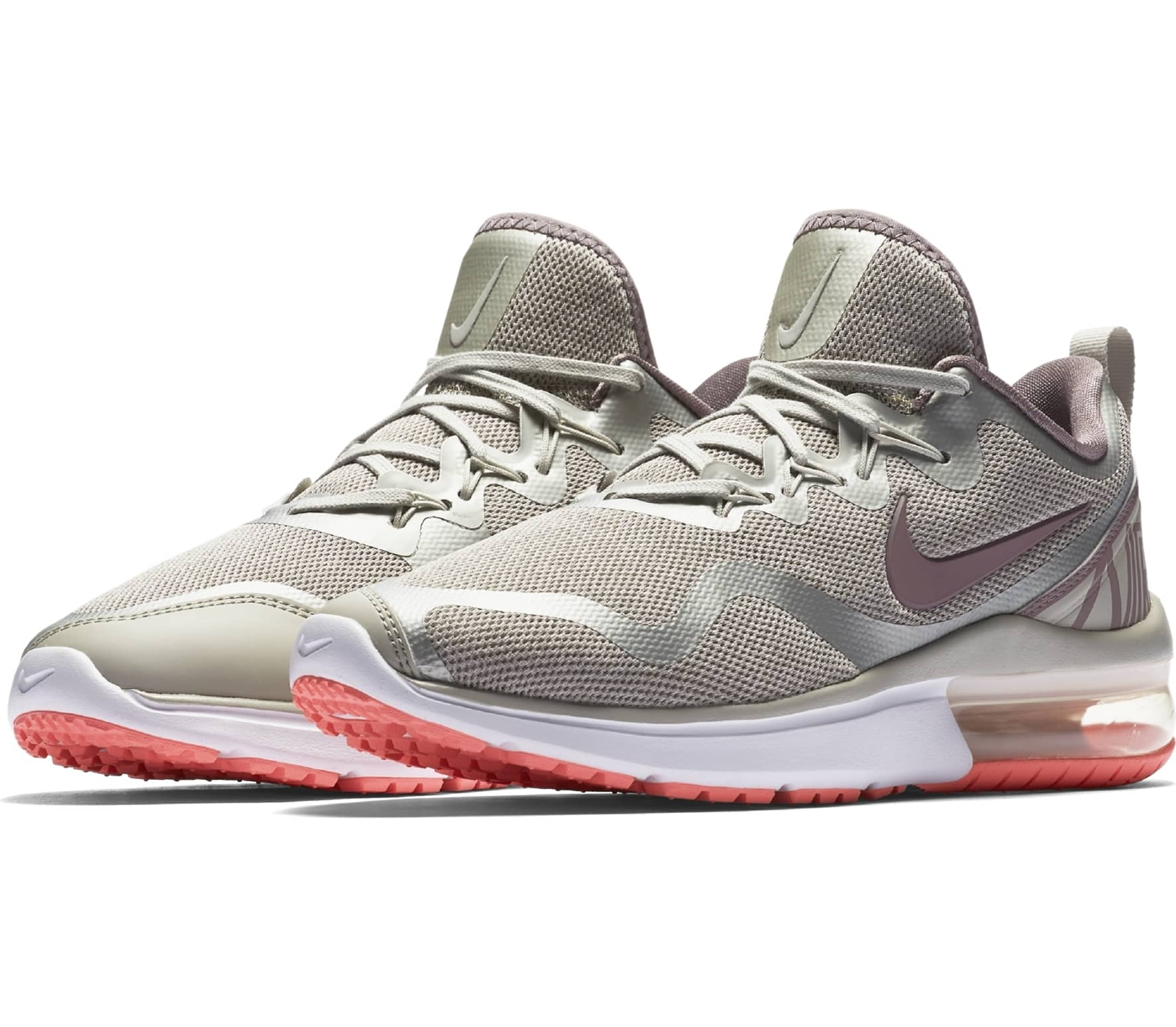 nike air max fury women 39 s running shoes light grey pink buy it at the keller sports online. Black Bedroom Furniture Sets. Home Design Ideas