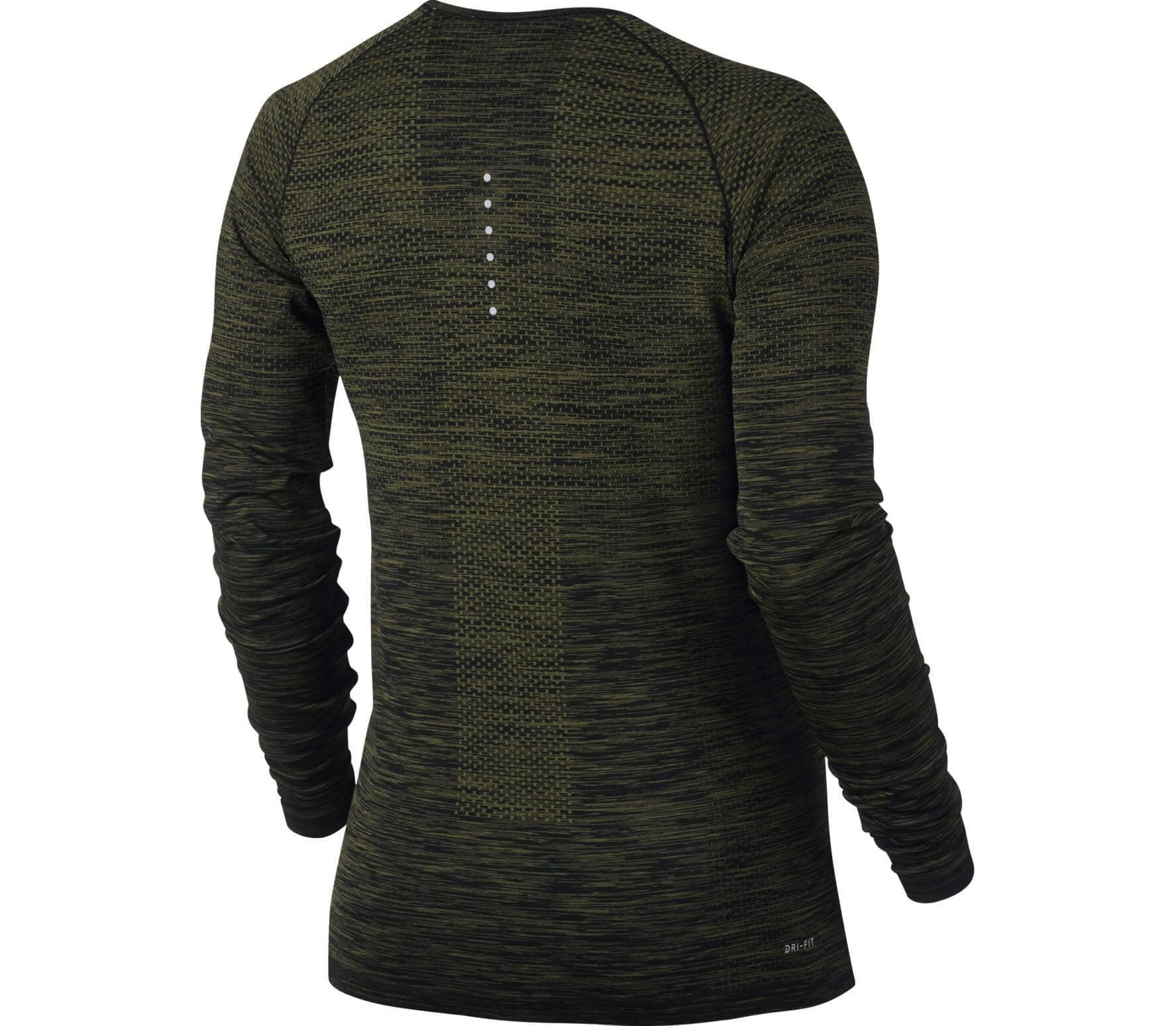 nike dri fit knit longsleeve women 39 s running top black. Black Bedroom Furniture Sets. Home Design Ideas
