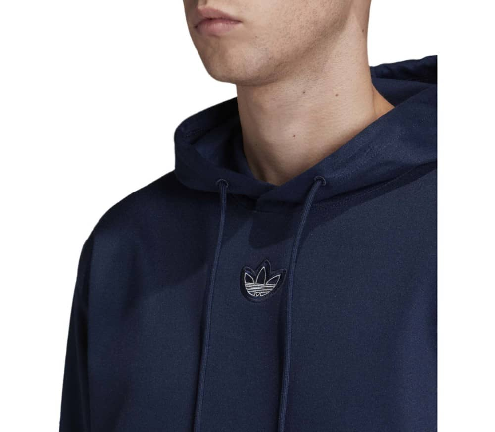 Outline French Terry Silver Foil Print Herren Hoodie