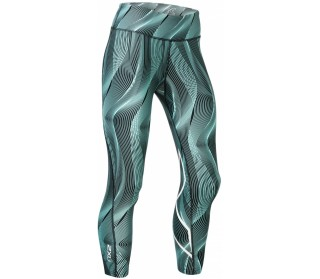 Print Mid-Rise Compression Tights 7/8 with Storage Damen